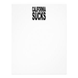 California Sucks Letterhead