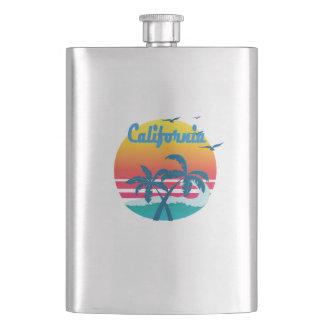 California, summer retro vintage flask