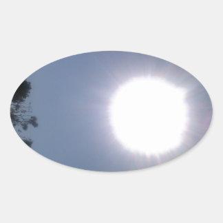 California Sun Oval Sticker