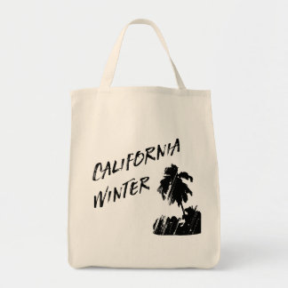 California Sunny Palm Trees Funny Tote Bag