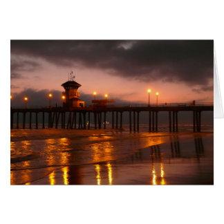 California Sunset at Huntington Beach Card