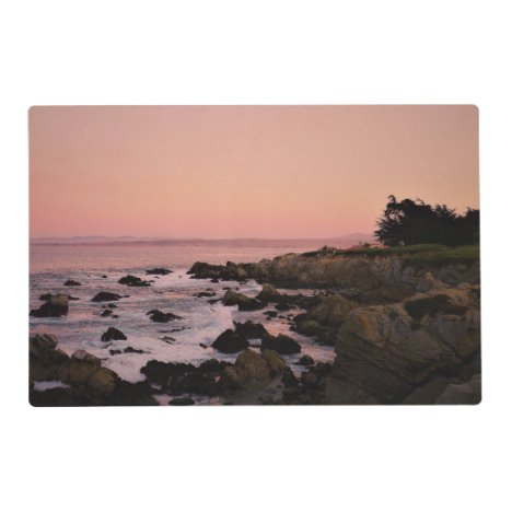 California sunset laminated two-sided placemat