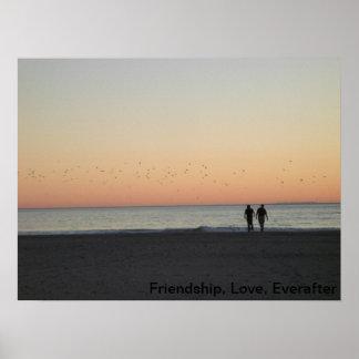 California Sunset Love Poster