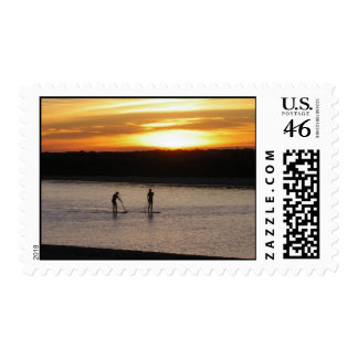 California Sunset Postage Stamp