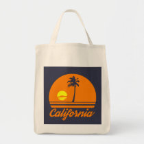 california, sunset, plastic bags banned, grocery shopping, Bag with custom graphic design