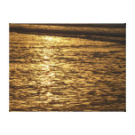 California Sunset Waves Abstract Nature Photograph Canvas Print