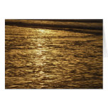 California Sunset Waves Abstract Nature Photograph Card
