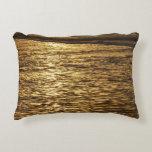California Sunset Waves Abstract Nature Photograph Decorative Pillow