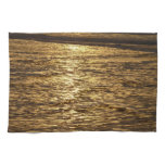 California Sunset Waves Abstract Nature Photograph Kitchen Towel