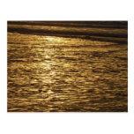 California Sunset Waves Abstract Nature Photograph Postcard