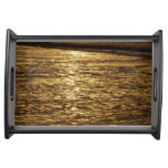 California Sunset Waves Abstract Nature Photograph Serving Trays