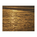 California Sunset Waves Abstract Nature Photograph Wood Wall Decor