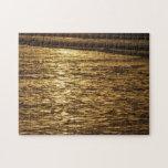 California Sunset Waves Jigsaw Puzzle