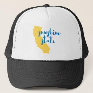 California Sunshine State Saying in Script Trucker Hat