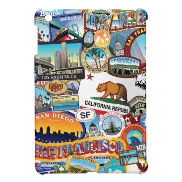 California Super Sticker Collage Pattern Case For The iPad Mini