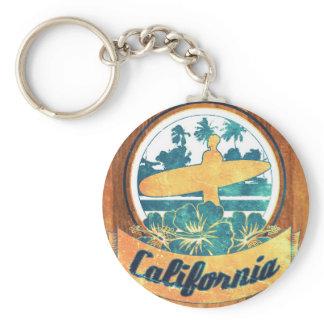 California surfboard keychain