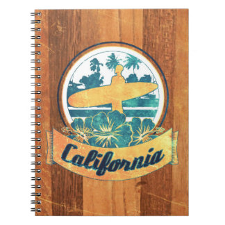 California surfboard spiral note books
