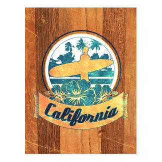 California surfboard postcard