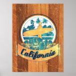 California surfboard poster