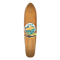 surfboard, california, vintage, water sports, funny, surf, retro, cool, 60's, skateboard, wave, college, nostalgic, rustic, america, nostalgia, water, swag, fun, skateboard deck, Skateboard with custom graphic design