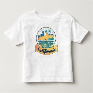 California surfboard toddler t-shirt