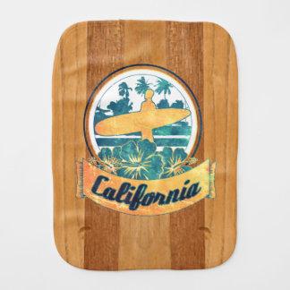 California surfboard burp cloths
