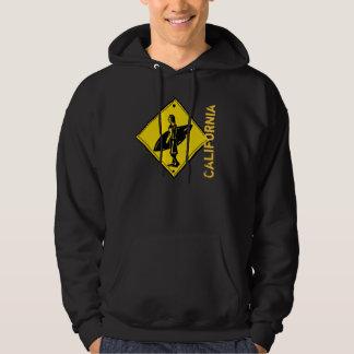 California surfer crosswalk hoodie