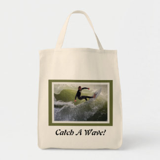California Surfer Grocery Bag