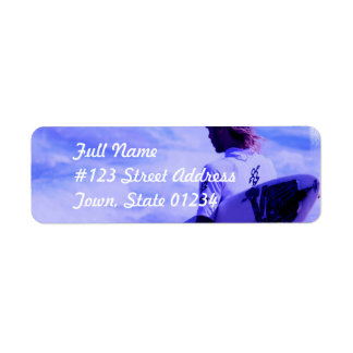 California Surfer Mailing Label