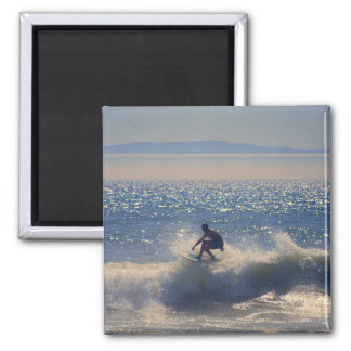 California Surfer Rides the Waves Magnet