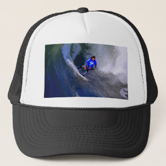 California Surfer Riding Wave Trucker Hat
