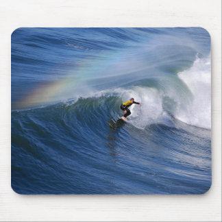 California Surfer Under A Rainbow Mousepad