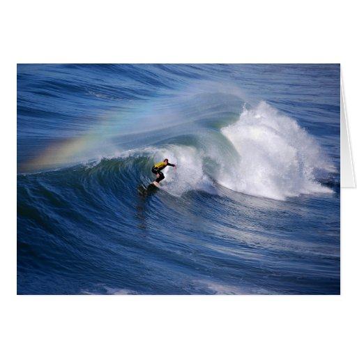 California Surfer with Rainbow Cards