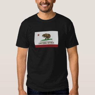 California Surfing Bear Tee Shirt