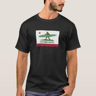 California Surfing Bigfoot Longboard T-Shirt