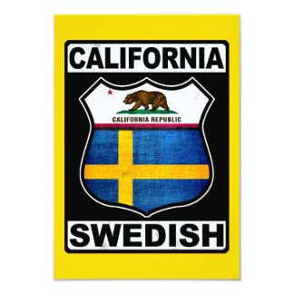 California Swedish American Card