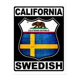 California Swedish American Postcard