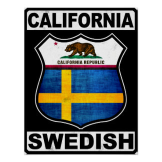 California Swedish American Poster