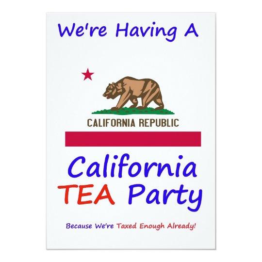 CALIFORNIA T.E.A. PARTY INVITATIONS
