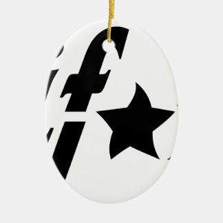 california tag ceramic ornament