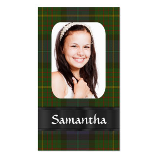 California tartan photo template business card template