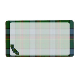 California Tartan Plaid Label