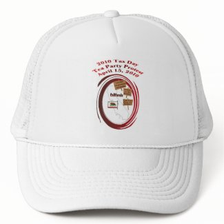 California Tax Day Tea Party Protest Baseball Cap hat