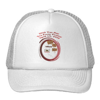 California Tax Day Tea Party Protest Baseball Cap Mesh Hats