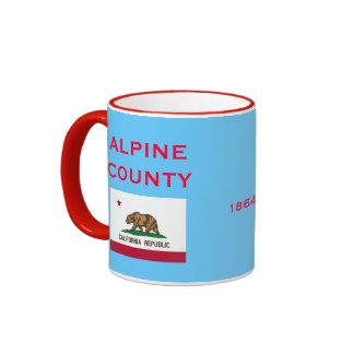 CALIFORNIA*- taza de café del condado de Alpine