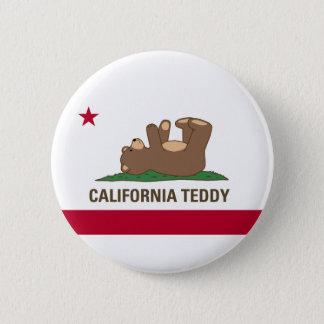 California Teddy Bear Flag Button
