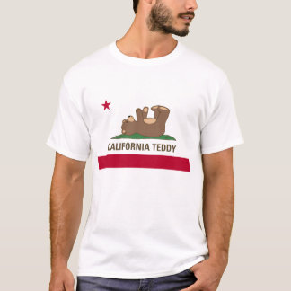 California Teddy Bear Flag T-Shirt