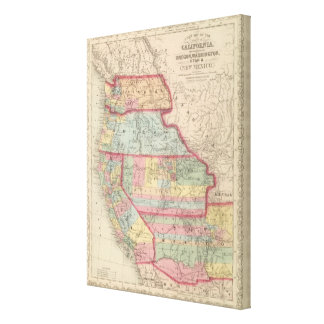 California, Territories of Oregon, Washington Canvas Print