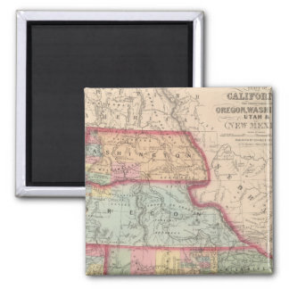 California, Territories of Oregon, Washington Magnet