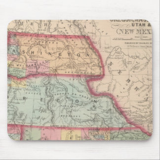 California, Territories of Oregon, Washington Mouse Pad